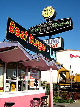 LA Burger, home of Raiden and Cilantro