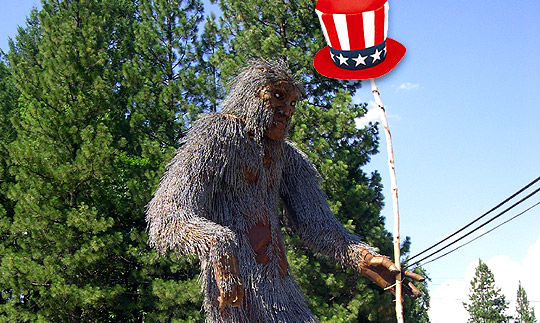 patriotic bigfoot!!!