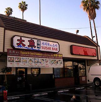 sushi bar parking