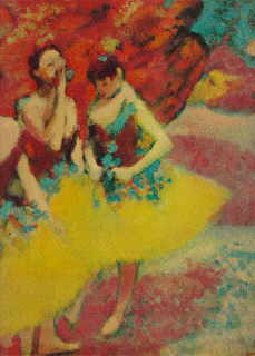 Degas' 'Three Dancers In Yellow' take a break from dancing to Vagenius at the Hammer.