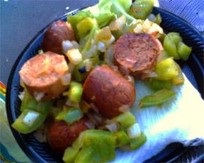 tofu sausage salad
