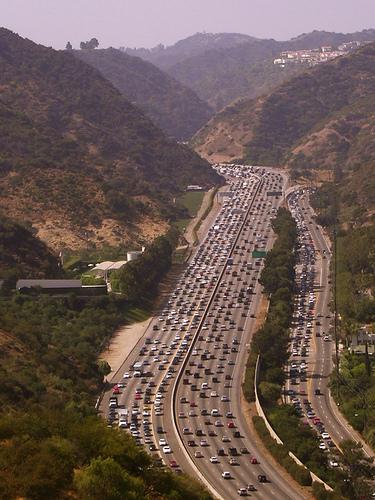 Fucked-up shitty 405 traffic