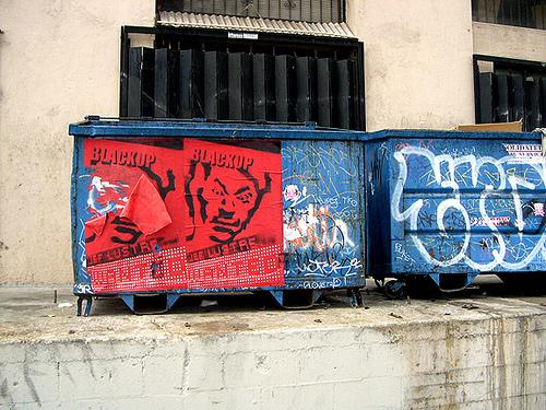 Satanic Pee Dumpsters under Metro Gold Line