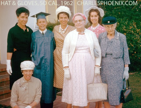 Charles Phoenix's Slide of the Week: Hats & Gloves, 1962