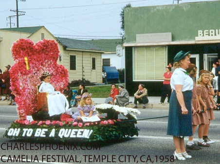Charles Phoenix's Slide of the Week: Camellia Festival, Temple City, 1958