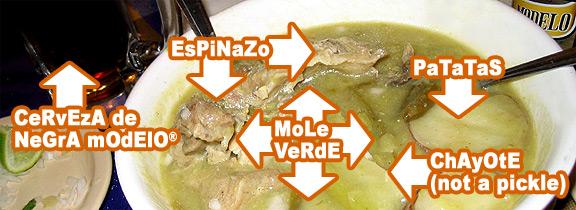 mole verde @ guelaguetza