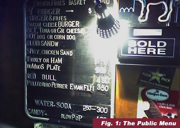 the public menu