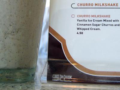 the churro milkshake
