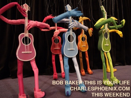 Charles Phoenix's Slide of the Week: Felt Guitars in Bob Baker: This is Your Life!