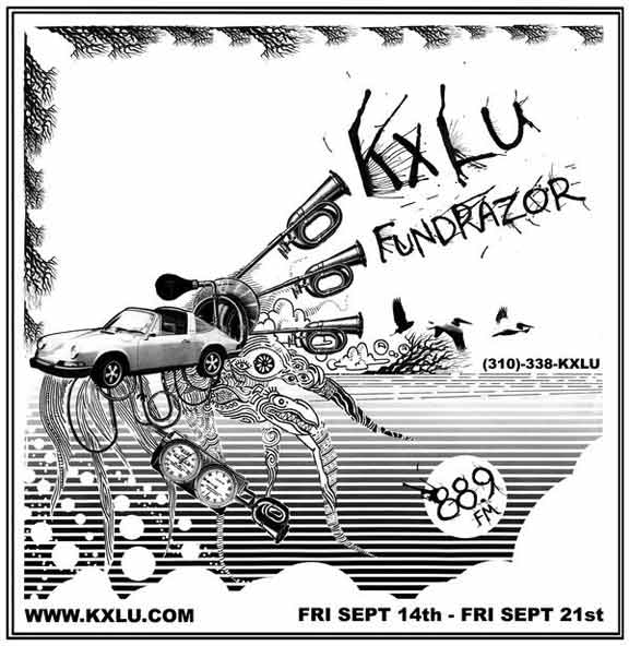KXLU Fundrazor, Fri Sept 14 - Fri Sept 21