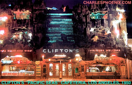 Charles Phoenix's Slide of the Week: Clifton's Pacific Seas Cafeteria, Los Angeles, 1950