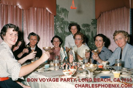 Charles Phoenix's Slide of the Week: Bon Voyage Party, Long Beach, CA 1955