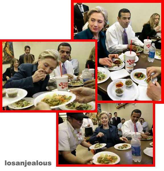 Photo Op: Hillary Votes King Taco