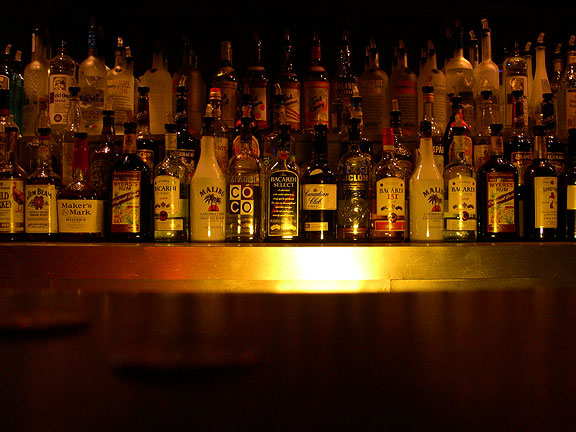 And Now, A Look At The Hard Liquor Selection Available At Spaceland, 2004
