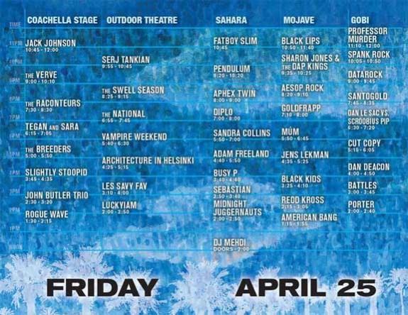 Coachella Festival Set Times & Grounds Map