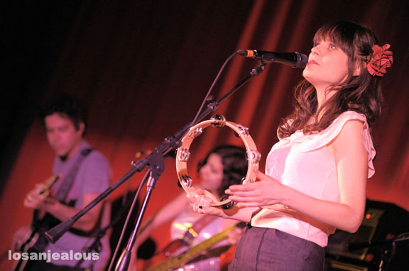 Zooey Deschanel and Hubby down for 4th Annual Aimee Mann Christmas Shows at Largo