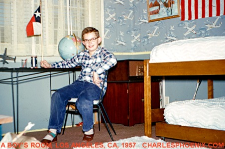 Charles Phoenix's Slide of the Week: A Boy's Room, Los Angeles, CA, 1957