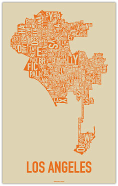 Typography/Topography: Ork Posters Tackles Los Angeles