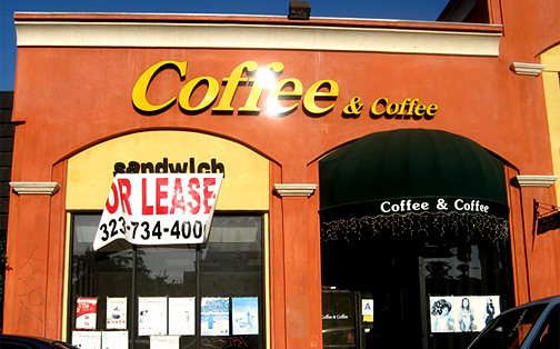 "200 Block Of N Western Former ""<em>Coffee <font size=""-1"">& Coffee</em></font>"" Frontage Still Totally Available"