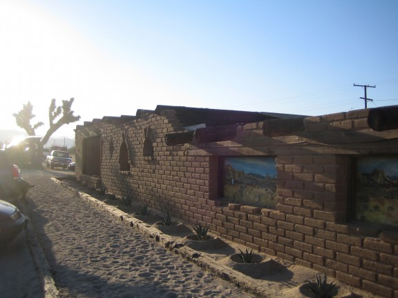 Glorious exterior of the Pioneertown Palace
