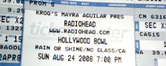 Radiohead, Hollywood Bowl, Sunday August 24 2008