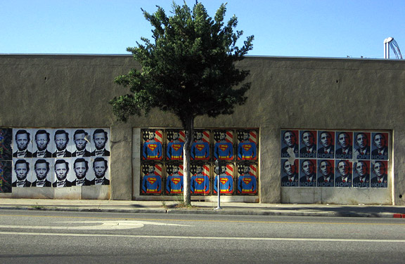 DEVELOPING: As Election Nears, Sunset Boulevard Slowly Bringing Unity To Wide Array of Diverse, Inspirational, Tasteful, Appropriate, Tacky, Alfred E.Neuman-cum-Lincolnable, Inappropriate, Ludicrous Wheatpaste Obama Posters