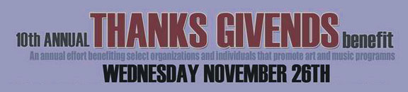 To Do Wednesday: Thanks Givends Benefit @ Bell Tower (Downtown)