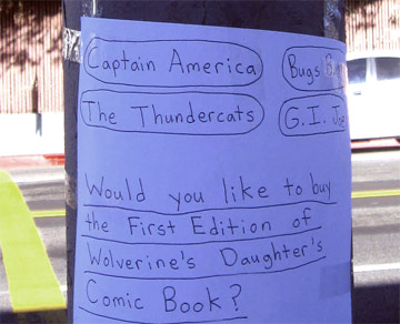 For Sale on Melrose: Wolverine's Daughter, 2 Books, Taco Bell, Thundercats, Movies, Money…My Heart