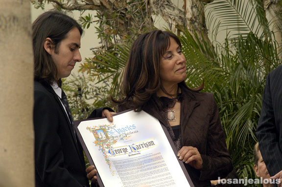 Dhani Harrison and Olivia Harrison