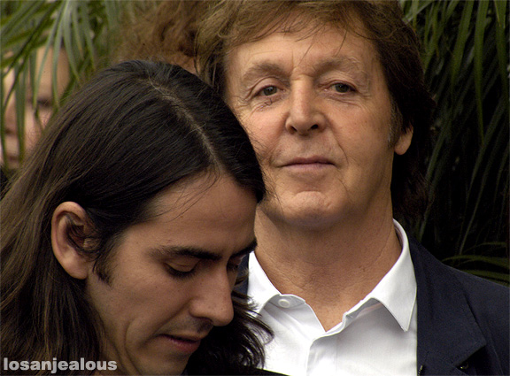 Dhani Harrison and Paul McCartney