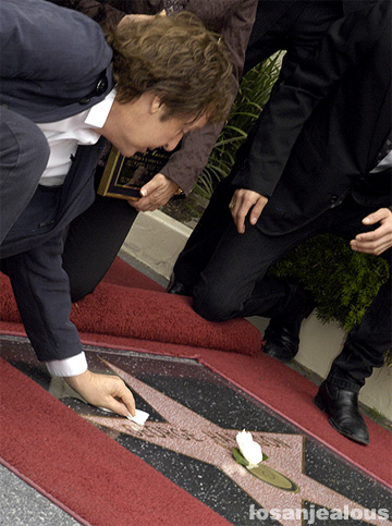 George Harrison Receives Posthumous Star on Hollywood Walk of Fame Today: Full Gallery En Route