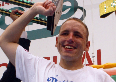 Joey Chestnut 2009 Threepeat: 68 Hot Dogs in 10 Minutes