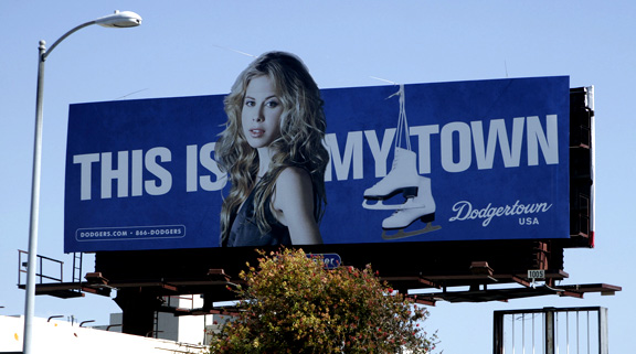 And Tara Lipinski has WHAT to do with the Dodgers?
