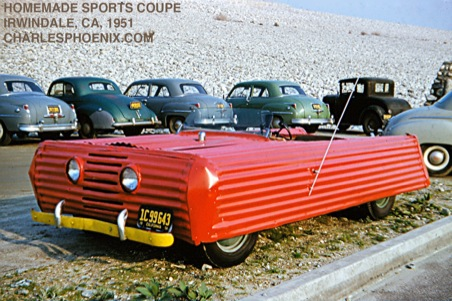 Charles Phoenix's Slide of the Week: Homemade Sports Coupe, Irwindale, CA 1951