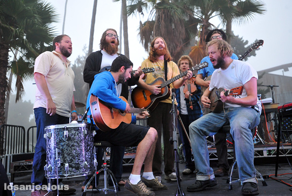 Bon Iver with Megafaun, Hollywood Forever Cemetery Sunrise Show, September 27, 2009