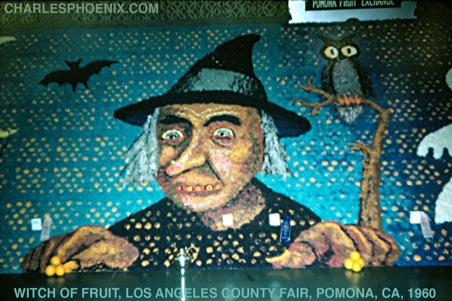 Charles Phoenix's Slide of the Week: Witch of Fruit, LA County Fair, Pomona, CA, 1960