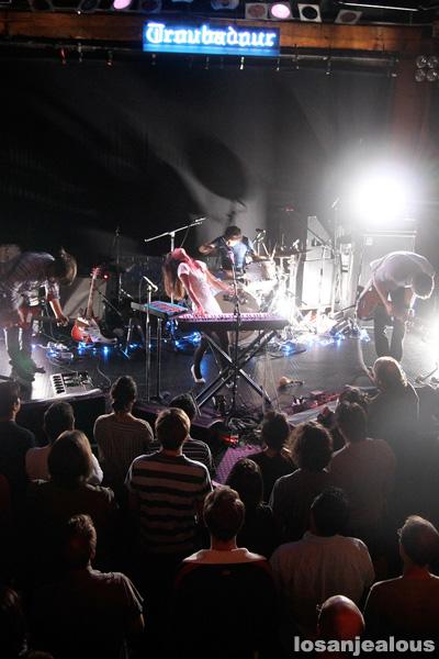 Asobi Seksu and Loney, Dear, Live at the Troubadour, October 1, 2009