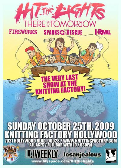 Last Minute Ticket Giveaway: Hit The Lights @ Knitting Factory, Sunday: Last KF Show EVER