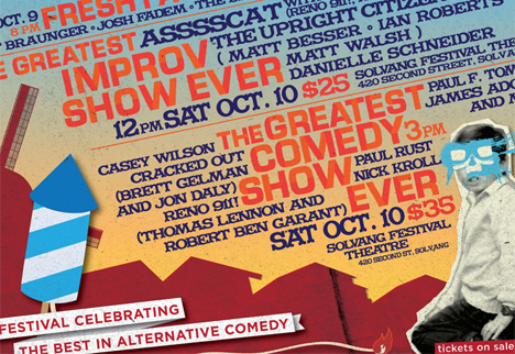 Last Minute Ticket Giveaway: UCB's Ultimate Comedy Bash, Solvang, Oct 10