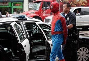 Spider-Man Impersonator Arrested on Hollywood Blvd, News Headline Pun Writers Swing Into Overdrive