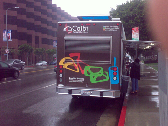 Calbi Truck Braves Drizzle to Serve the Westside