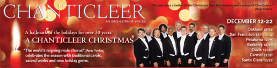 A Chanticleer Christmas–This Thursday 12/17 at Disney Hall–Win Tickets Now