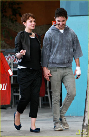 shia labeouf girlfriend carey. Shia LaBeouf and his Golden
