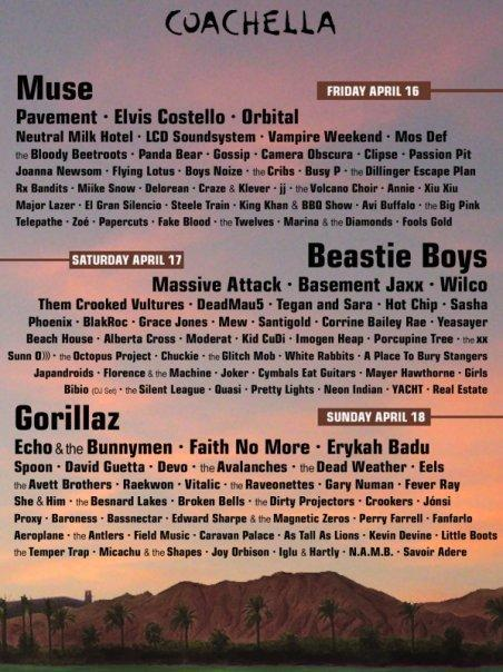 An Annual Tradition: The Fake Coachella Line-up Poster, 2010 Edition
