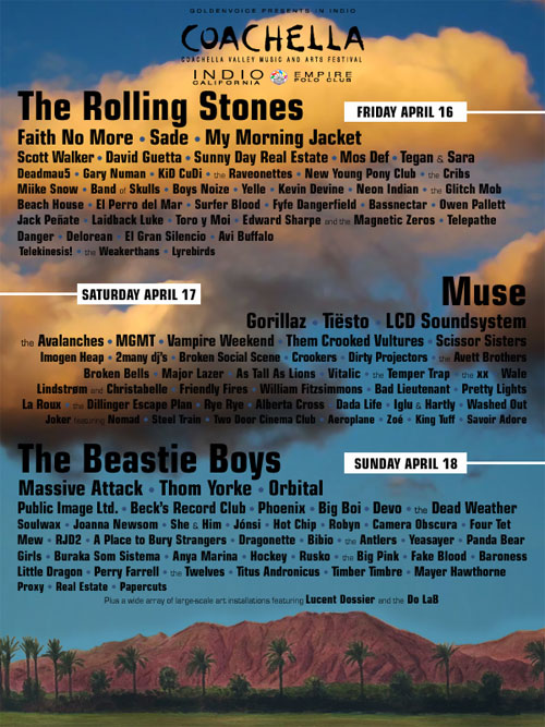 An Annual Tradition: The Fake Coachella Line-up Poster, 2010 Edition, Version #2–Faker or Realer?