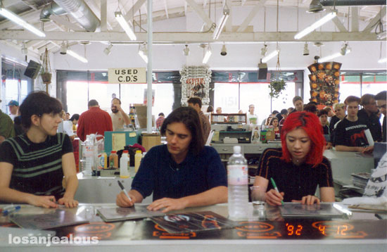 Photo Flashback: Lush Record Signing at Aron's Records, 1992