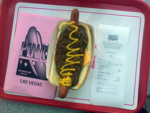 Los Angeles in Las Vegas: Pink's Hot Dogs