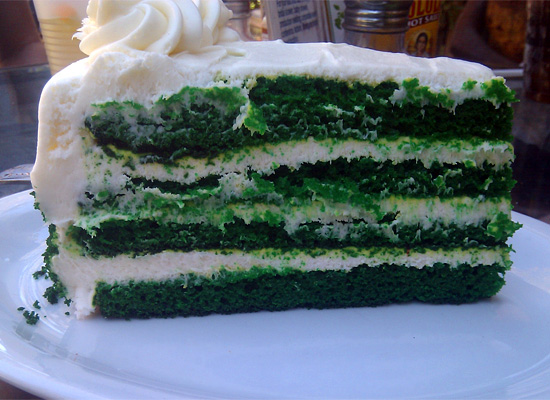 Add This One to the Awesome Dept: Alcove Green Velvet Cake