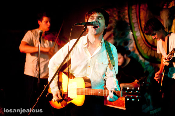 Conor Oberst with The Felice Brothers at Pappy & Harriet's Pioneertown, September 28, 2010