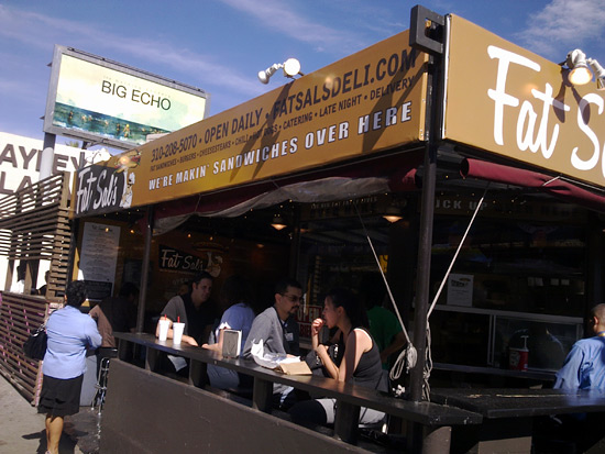 A Westwood Village Institution is Born--Fat Sal's Deli Sets Up Shop